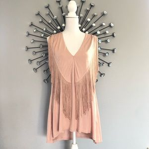 Banana republic fringe tank top